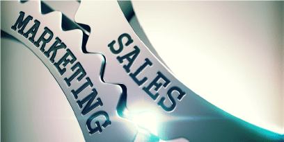 Marketing and Sales Gear Working Together