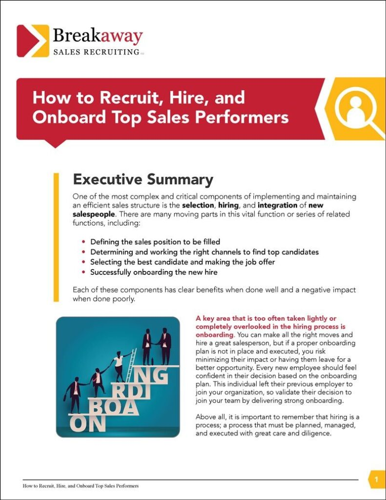How to Recruit, Hire, and Onboard Top Sales Performers