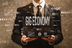 Businessman Showcasing Gig Economy
