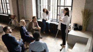 Fractional Sales Leader Meeting With Sales Team